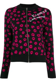 Love Moschino Kisses Cardigan - Preto