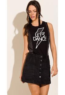 Blusa Sem Manga Viscolycra Brilhosa Let'S Dance