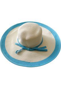 Chapéu Zohar Acessórios De Palha Azul