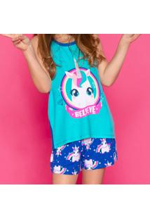 Pijama Unicórnio- Azul Claro & Azul Escuropuket