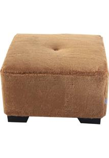 Puff Cubo Large Pelúcia - Stay Puff - Ouro