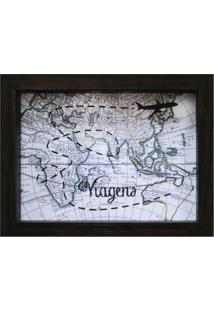 Quadro Cofre Map Betume 13X18Cm