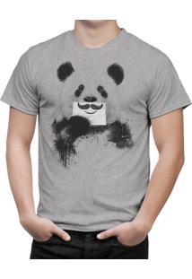 Camiseta Bottonshirt Funny Panda Mescla