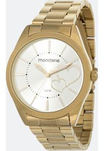 Kit Relógio Feminino Mondaine 53690Lpmgde1K1 Analógico 5Atm + Pulseira