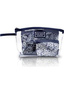 Kit Necessaire 3 Em 1 Jacki Design Paisley - Unissex-Azul