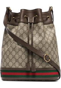 Gucci Gg Logo Bucket Bag - Marrom