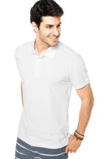 Camisa Polo Coca-Cola Jeans Reta Branca