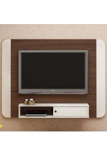 Painel Para Tv Até 50 Polegadas Wave Amêndoa/Off White - Artely