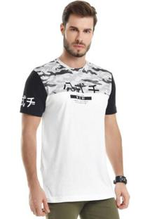 Camiseta Com Detalhe Em Foil Branco
