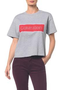 Blusa Mc Moletom Calvin Klein - Mescla Camisa Mc Moletom Calvin Klein - Mescla - Pp