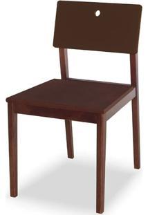 Cadeira Flip Cor Cacau Com Encosto Marrom - 31127