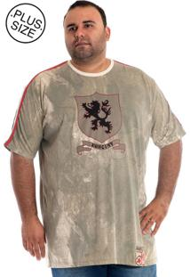 Camiseta Konciny Manga Curta Plus Size Verde Musgo