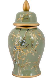 Vaso Decorativo De Porcelana Bwindi M - Linha Nature