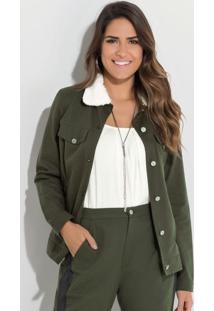 Jaqueta Quintess (Verde Militar) Com Pelos