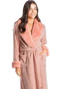 Robe Longo Em Fleece Com Pelo Yasmin
