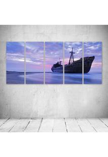 Quadro Decorativo - Blue Sea - Composto De 5 Quadros - Multicolorido - Dafiti