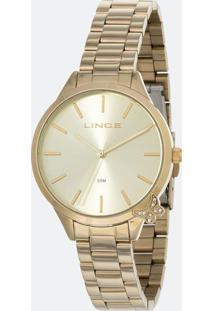 Kit Relógio Feminino Lince Lrg4602L-Kv92C1Kx Analógico 5Atm + Conjunto Semijóia
