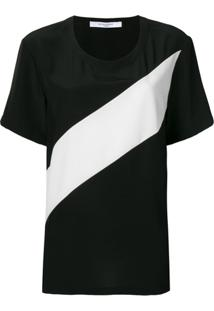 Givenchy Blusa Com Detalhe De Listra - Preto
