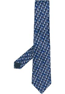 Lanvin Gravata Estampada - Azul