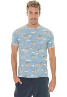 Camiseta Timberland Vintage Beach Masculina - Masculino-Azul