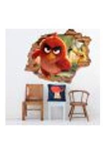 Adesivo De Parede Buraco Falso 3D Andry Birds 2 - Eg 100X122Cm