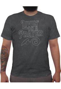 Livin On A Prayer - Camiseta Clássica Premium Masculina
