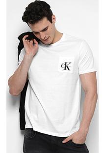 Camiseta Calvin Klein Gola Careca Bolso Masculina - Masculino