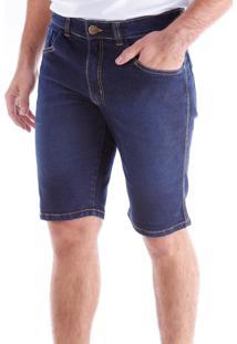 Bermuda 685 Jeans Azul Traymon Modelagem Slim