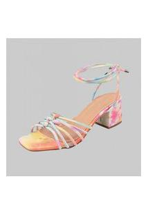 Sandalias Salto Quadrado Dona Madame 010201 Tie Dye