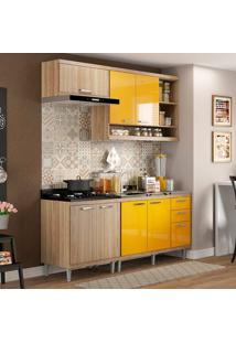 Cozinha Compacta 4 Peças 5810-S6 - Sicília - Multimóveis - Argila / Amarelo