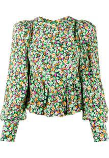 Rotate Blusa Com Estampa Floral - Verde