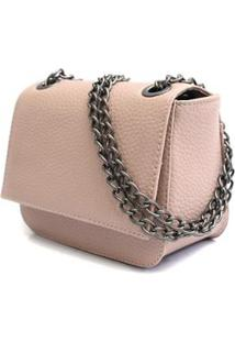 Bolsa Feminina Casual Maria Milão Mini Bag Alça Transversal - Feminino-Creme