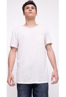 Camiseta Alongada Em Linho