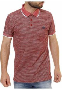 Camisa Polo Manga Curta Masculina - Masculino-Vermelho