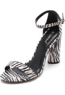 Sandália Di Cristalli Zebra Preta/Branca