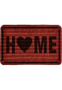 Capacho Carpet Home Vermelho Único Love Decor