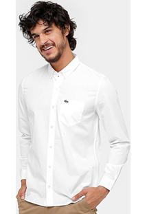 Camisa Social Lacoste Regular Fit Bolso Masculina - Masculino