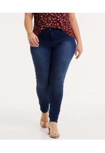 Calça Jeans Biotipo Plus Size Skinny Biotipo Feminina - Feminino-Azul