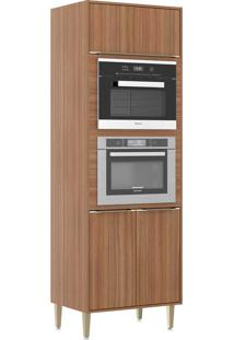 Armário De Cozinha 3 Portas Para Forno De Embutir 5404Mf Nogueira - Multimóveis