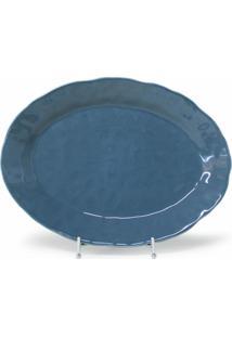 Travessa Em Cerâmica Portuguesa - Azul