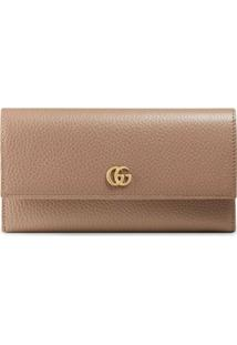 Gucci Carteira Continental Gg Marmont - Rosa