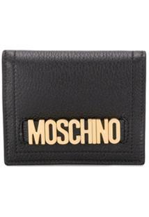 Moschino Carteira Com Placa De Logo - Preto
