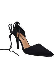 Sapato Zariff Scarpin Aberto Com Amarração