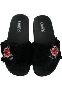 Sandália Slide Capricho Roses