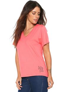 Camiseta Morena Rosa Básica Rosa