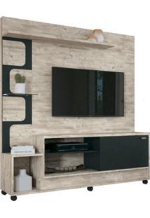 Estante Home Painel Para Tv Até 50 Pol. Palace Aspen/Preto - Hb Móveis
