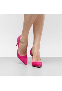 Scarpin Couro Luiza Barcelos Salto Alto - Feminino-Pink