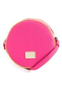 Bolsa Feminina Transversal Redonda Rafitthy 33.11304A_9 Pink