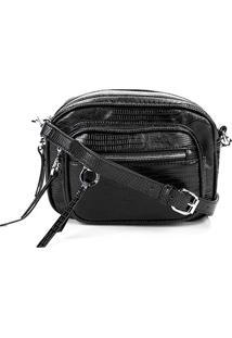 Bolsa Santa Lolla Mini Bag Lizard Feminina - Feminino-Preto