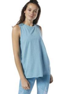 Regata Reebok F C Muscle Feminina - Feminino-Azul